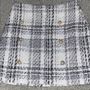 Tweed mini skirt only worn TWICE!